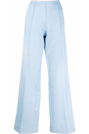 Palm Angels Side-stripe wide-leg trousers