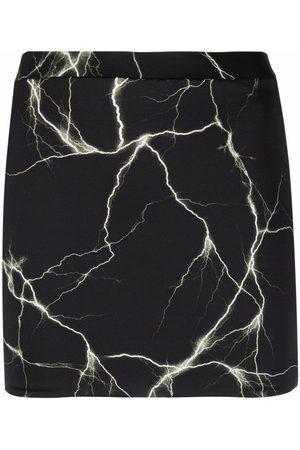 VETEMENTS Thunder-print skirt
