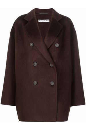 Acne Studios Double-breasted button-front mid-length coat