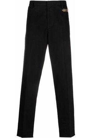 Moschino Homem Calças Formal - Logo embellished tailored trousers