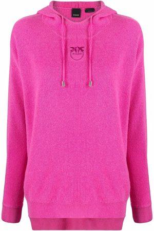 Pinko Senhora Camisolas com capuz - Embroidered-logo pullover hoodie