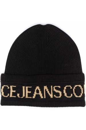 Versace Jeans Couture Intarsia-knit logo beanie