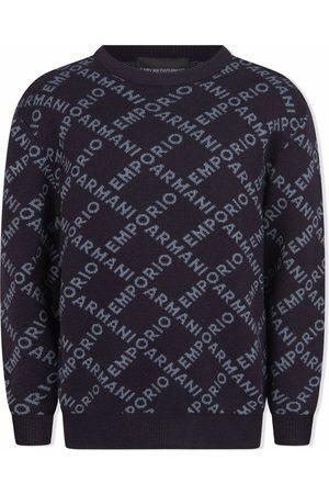 Emporio Armani Logo-print crew neck jumper
