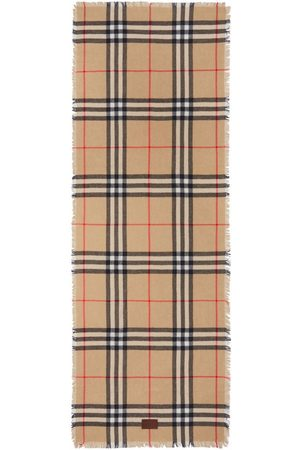 Burberry Check-pattern scarf