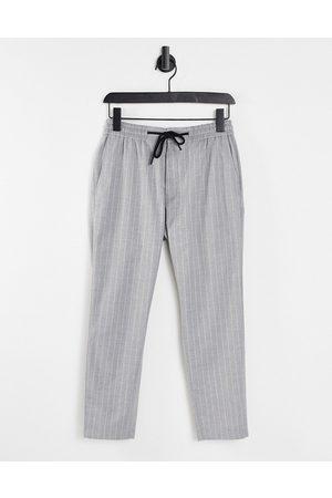 Topman Homem Joggers - Stripe joggers in grey