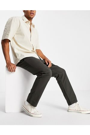 French Connection Slim fit chino in khaki-Green