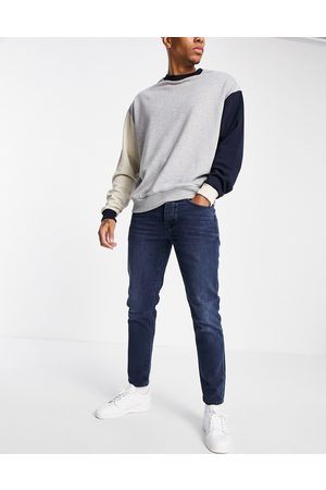 Selected Homme Slim tapered jeans in blue