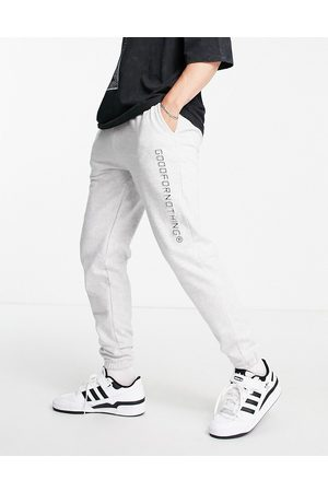 Good For Nothing Co-ord joggers in grey with logo print