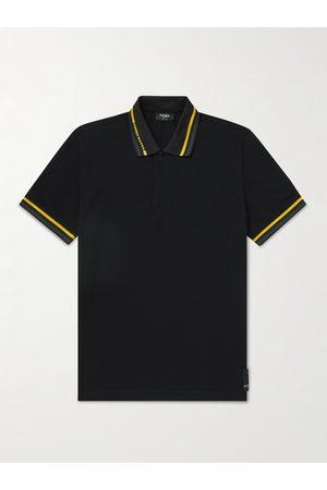 Fendi Slim-Fit Contrast-Tipped Cotton-Piqué Polo Shirt