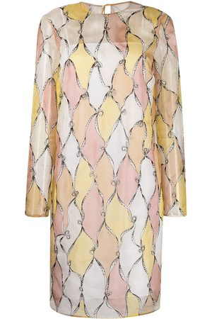 Emilio Pucci Losanghe embroidery layered dress