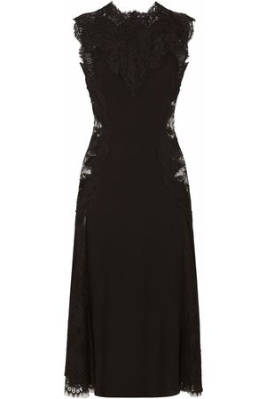 Dolce & Gabbana Senhora Vestidos de Festa - Lace-panelled midi dress