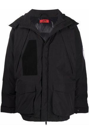 424 Homem Casacos de Inverno - Padded hooded coat