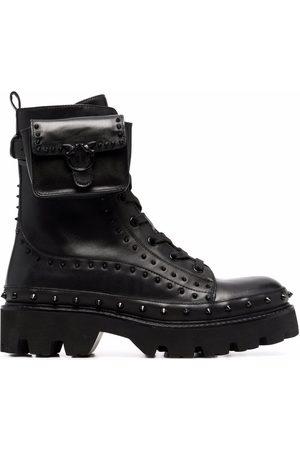 Pinko Senhora Botas - Pouch-detail studded combat boots
