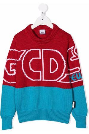 Gcds Kids Two-tone logo-print jumper
