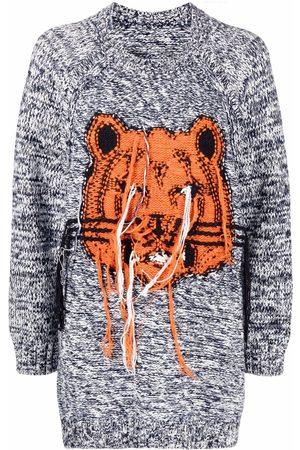 Kenzo Senhora Camisolas - Tiger Head motif sweater