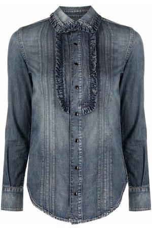 Saint Laurent Senhora Ganga - Long-sleeve denim shirt