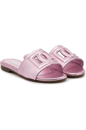 Dolce & Gabbana Kids Menina Sandálias - Logo sandals