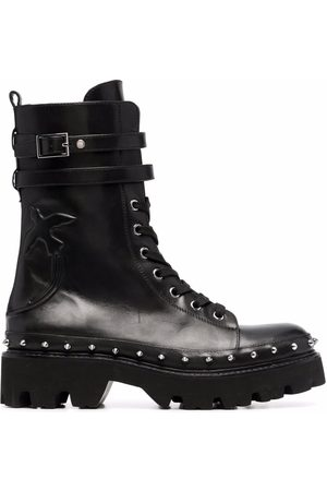 Pinko Senhora Botas - Love Birds combat boots