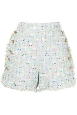 Edward Achour Paris Senhora Calções - Tweed-style sailor shorts