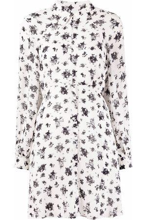 Pinko Senhora Vestidos Estampados - Floral-print shirt dress