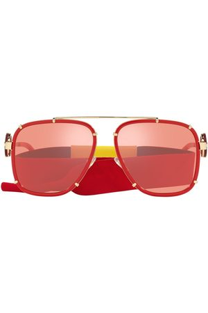 Versace Eyewear Homem Óculos de Sol - Aviator-frame metal sunglasses