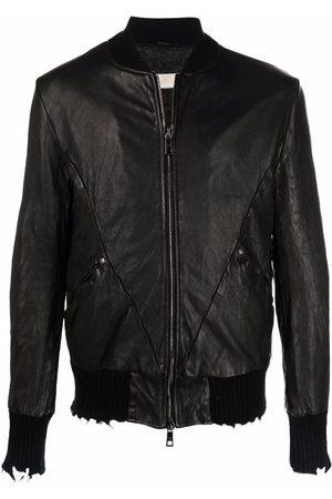 GIORGIO BRATO Homem Casacos de Pele - Distressed leather jacket