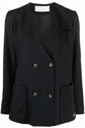 Société Anonyme Mulher Blazers - Double-breasted wool blazer
