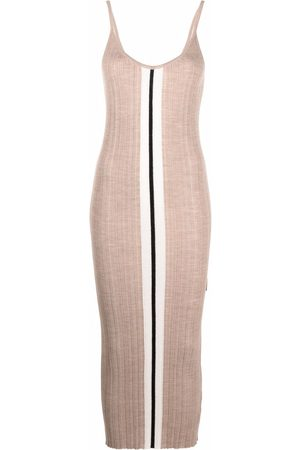 Palm Angels Stripe detail knitted dress