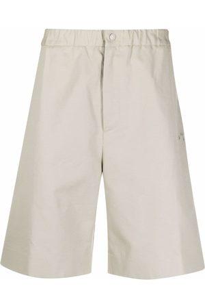Off-White Elasticated Bermuda shorts