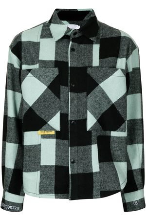 Izzue Mulher Camisas - Bold check long-sleeve shirt