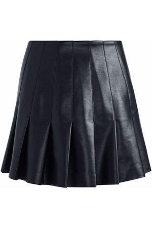 ALICE+OLIVIA Pleated faux leather skirt