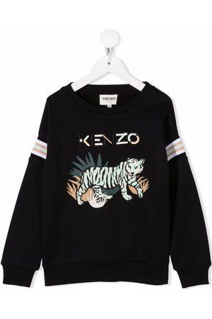 Kenzo Kids Logo embroidered jumper