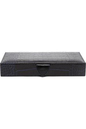 Smythson Crocodile-effect leather travel tray