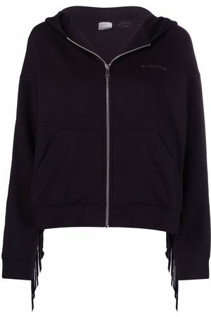 Pinko Text-print fringed hoodie