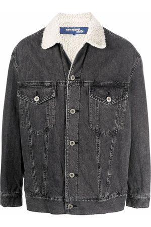 Junya Watanabe MAN Homem Casacos - Shearling-lined denim jacket