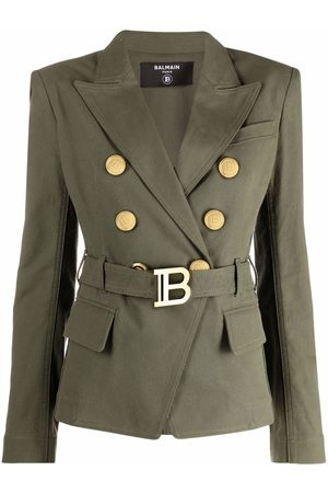 Balmain Mulher Blazers - Belted double-breasted blazer