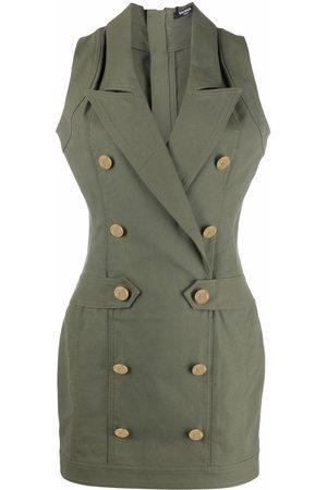 Balmain Buttoned sleeveless dress