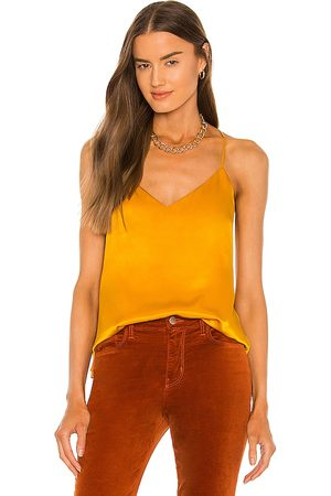 L'AGENCE Kyler Racer Tank in - Yellow. Size L (also in S, XS, M).