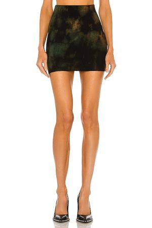 Cotton Citizen X REVOLVE Ribbed Mini Skirt in - Black. Size L (also in XS, S, M).