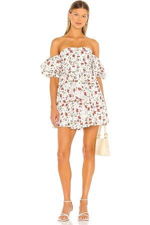 MAJORELLE Adelina Mini Dress in - Ivory. Size L (also in XXS, XS, S, M, XL).