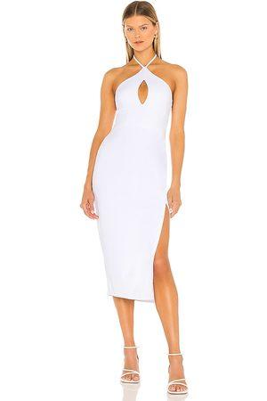 Susana Monaco Halter Open Front Midi Dress in - White. Size L (also in XS, S, M).