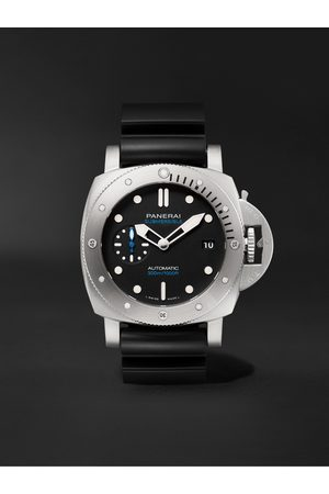 Panerai Homem Relógios - Submersible Automatic 42mm Stainless Steel and Rubber Watch, Ref. No. PAM00973