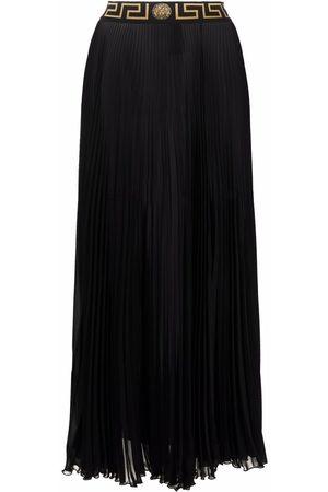 Versace Mulher Saias Compridas - Greca-trim maxi skirt
