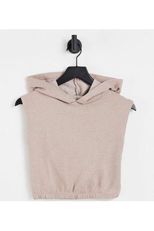 Miss Selfridge Mulher Camisolas com capuz - Petite boxy hoodie in neutral