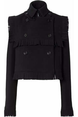 Burberry Fringed collared jacket