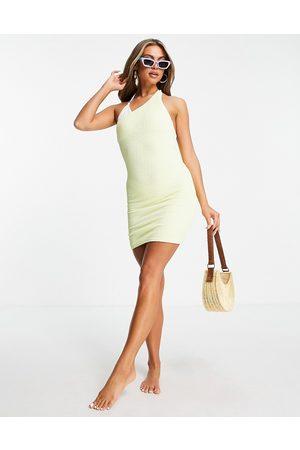 Public Desire Scrunch one shoulder mini dress in yellow