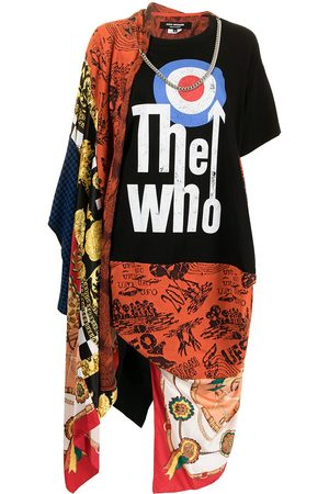 Junya Watanabe Mix-print asymmetric T-shirt dress