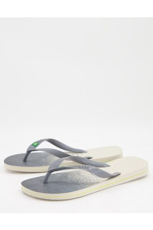 Havaianas Homem Chinelos - Brasil fresh flip flops in ombre monochrome-Black