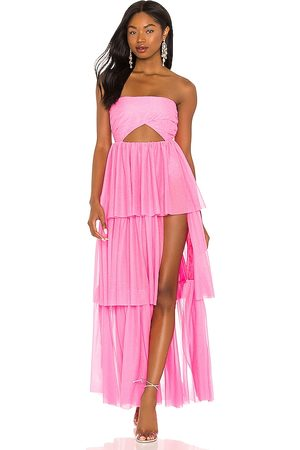 For Love & Lemons X REVOLVE Strapless Tiered Ruffle Gown in - . Size L (also in S, XS, M, XL).