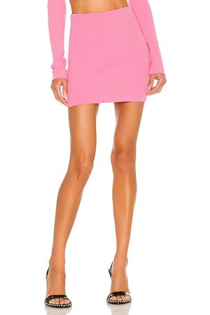 Cotton Citizen X REVOLVE Ribbed Mini Skirt in - Pink. Size L (also in XS, S, M).